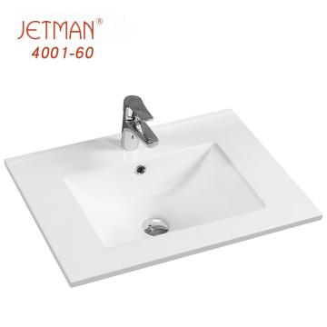 Not Easy to Scale Retangular Basin Bathroom Vanity with One Hole