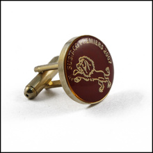 Custom Metal Clothing Cufflink Epoxy-Dripping Cufflink (GZHY-XK-015)