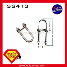 SS413 Ladder Vertical Life Line System Stainless AISI Round Bend U Bolts