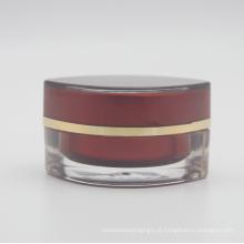 Vazio cosmético quadrado brilhante creme sem ar jar 30g