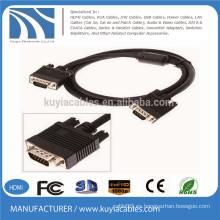 Premium Gold Plated SVGA / VGA Cable de monitor con ferritas 15 pies