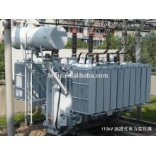 Triphasé huile immergé type cuivre enroulement enroulé base faible perte 35kv 66kv 110kv 31.5mva transformateur de puissance
