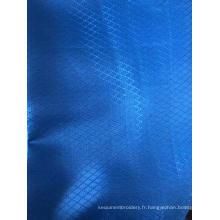 100% polyester drap de lit tissu jacquard diamant