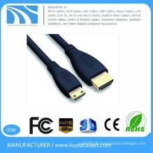 1.5m HDMI 1.4 zum Mini HDMI Kabel 5ft 1080P HD Fernsehapparat Video heraus Kabel