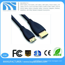 1.5m HDMI 1.4 al mini cable de HDMI 5ft 1080P TV de HD TV hacia fuera cable