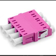 Adaptador óptico LC PC Quad Flange OM4