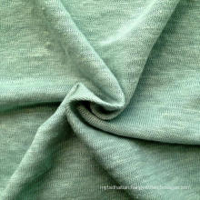 Linen Knitted Heather Grey Fabric (QF14-1591)