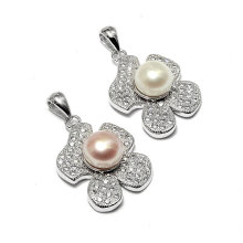Fashion Flower Pearl Pendant Jewelry Charms for Necklace Bracelet DIY