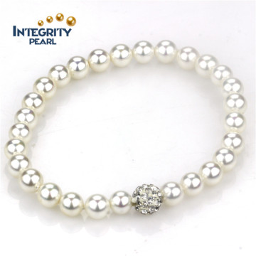 Perfect Round Shell Pearl Bracelet 8mm Charming Pearl Bracelet