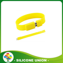 Yellow Promotion Silicone 8GB USB Bracelet