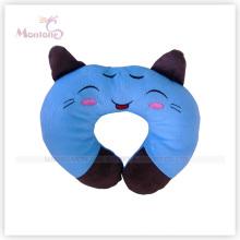 Coussin de repos de cou en forme de chat bleu