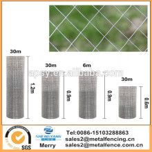"New 1""x1"" Welded Wire Mesh Fence Chicken Rabbit Hutch Garden Aviary Galvanised fencing"