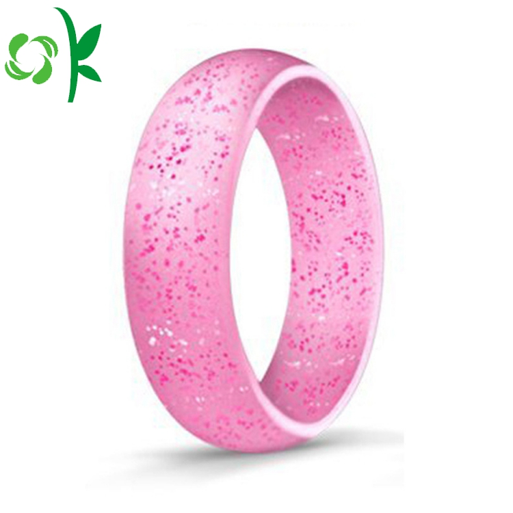 Pink Silicone Powder Ring