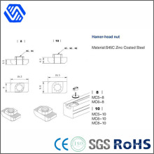 Hammer Head Nut Fasterner Customized Steel Welded Nut