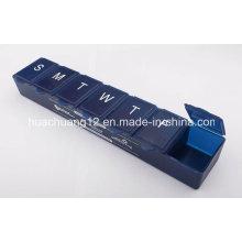 Boîte de pilule hebdomadaire de 7 jours avec Braille Mark Plb51