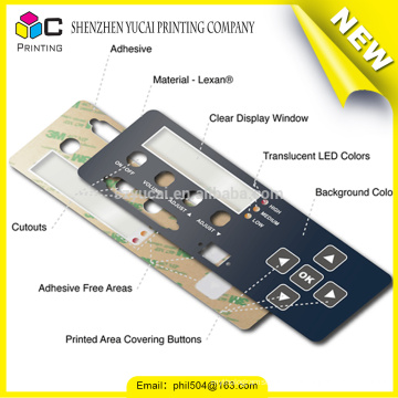 Wholesale products custom printed control panel labels