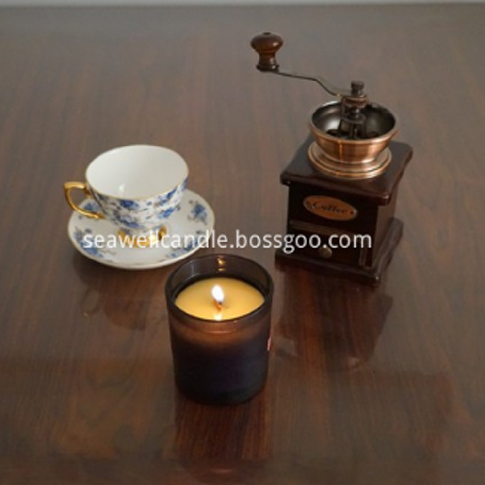 Lilin Soya Wax Wood Wick Black Jar Lilin