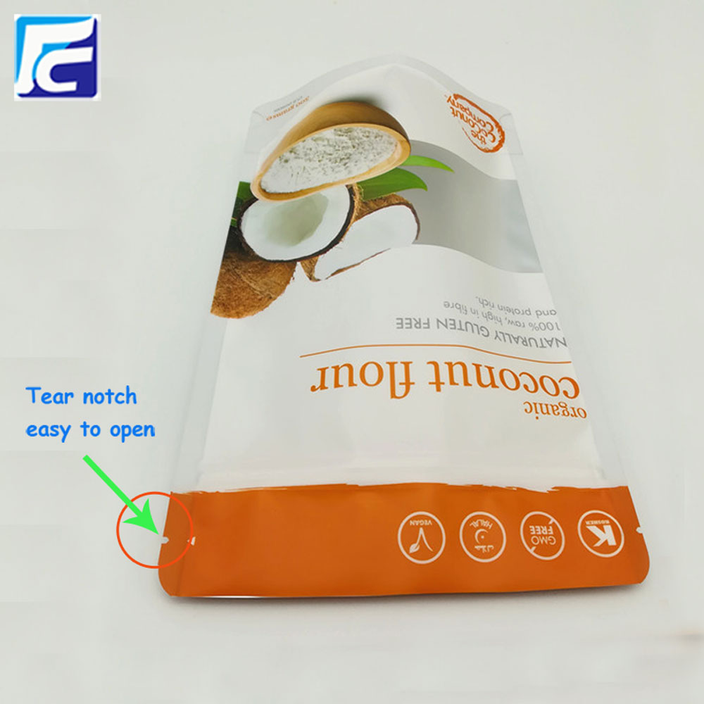 Resealable mylar whey protein packaging pouch with window