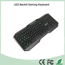 Ergonomics Design Laser Printing LED Light Computer Keyboard Gaming (KB-1801EL)