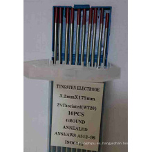 Electrodos de tungsteno Wt20 tierra y recocido (10PCS)