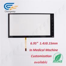 Panneau de contrôle industriel + verre Panneau tactile résistant aux rayons blancs de 5,6 po pour GPS