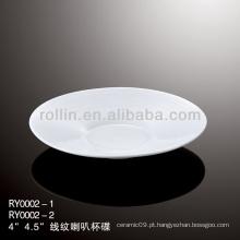 Saudável especial durável porcelana branca chinesa pires