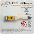 Poignée en bois et brosse à poils en polyester / nylon