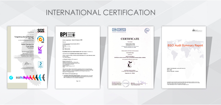 certification of PVC food cling film