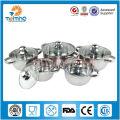 10pcs conjuntos de ollas de cocina de acero inoxidable quirúrgico