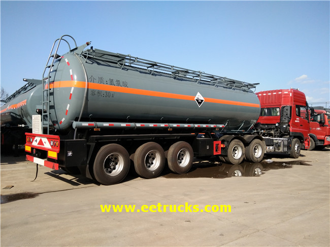 30 CBM Hydrochloric Acid Trailer Tanks