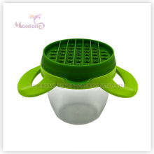 18*11cm Kitchen Tools ABS Stainless Steel Manual Potato Cutter Press