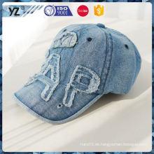 Fabrik liefern gute Qualität Stein gewaschen Cowboy Cap Baseball für 2016