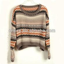 13STC5211 jacquard padrão curto malhas suéteres para o natal