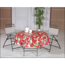 PVC Printed Tablecloth with Christmas Style (TJ0764)