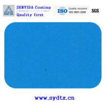 Pulverlackfarbe von transparentem Blau