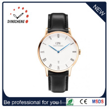 La montre de quartz de montre d'acier inoxydable de montre de dames de MOQ bas (DC-1072)