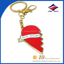 Red heart key chain love theme for lover