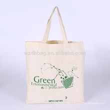 Recycled Durable Printed Natural Color Grocery Canvas Cotton Shopping Tote Bag Promotion For Advertising, Gift, Supermarket