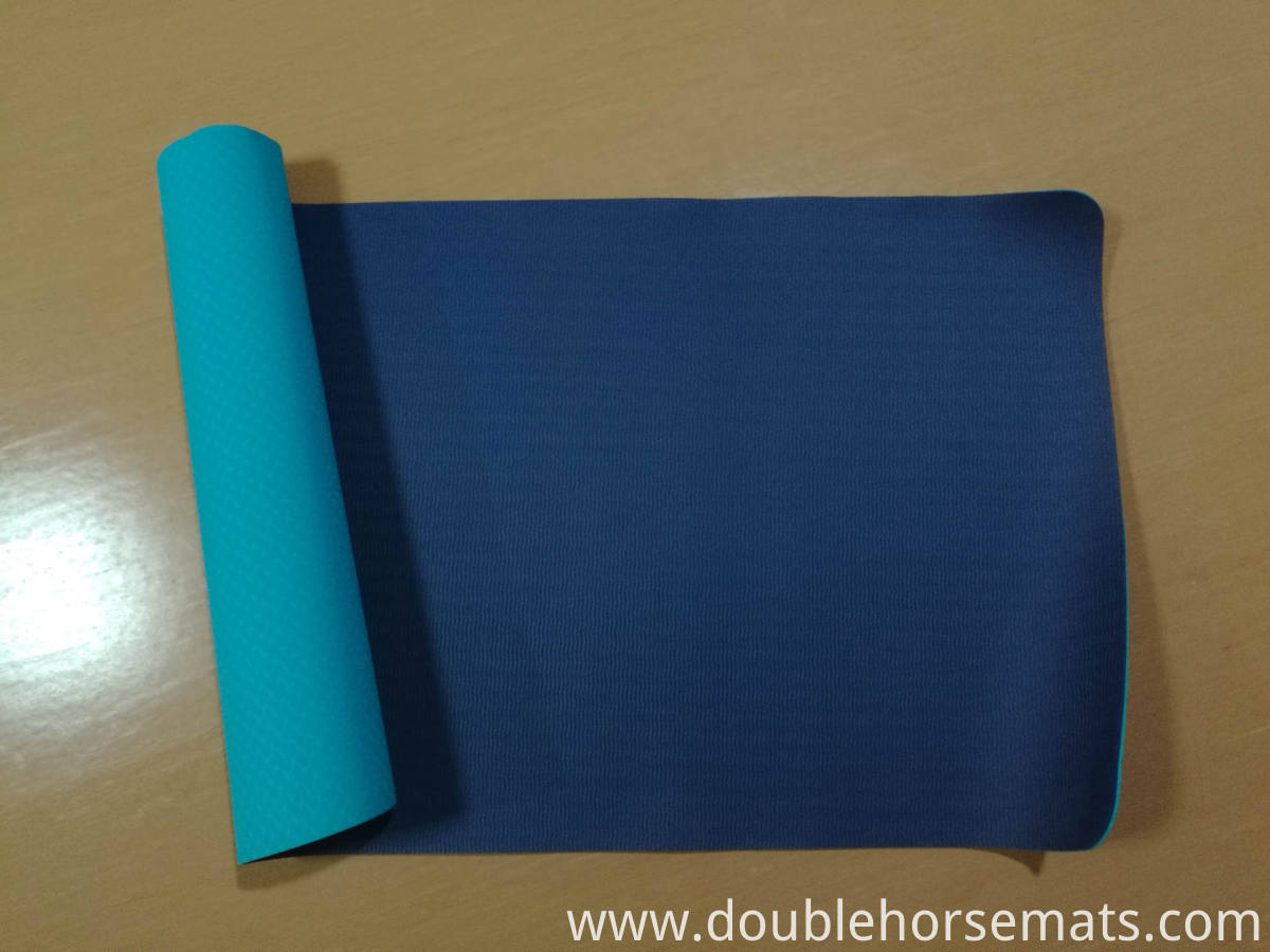 TPE double color fitness mat