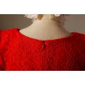 Mädchen Partei Kleider Baumwolle Kleid für Winter Embriodery chinesische Neujahr Party Party rote Kleider Kleider tanzen