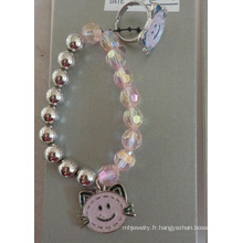 Ensemble d'émail Hello Kitty Cat enfants bague et Bracelet