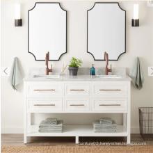 Quartz stone of the vanity bathroom cabinet