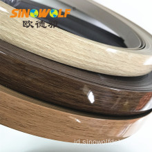 Woodgrain High Gloss PVC Edge Banding untuk Panel