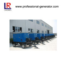 40kVA Water Cool Mobile Generator with Trailer, 4 in Line 40kw Cummins Engine