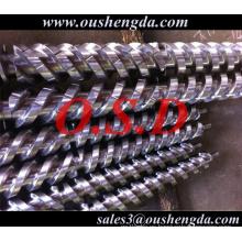 extruder twin double screws barrel ZHOUSHAN OSD for Zhangjiagang Keruit machine PVC foam sheet COLMONOY 56 83 Stellite HK7