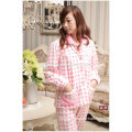 Ladies thermal pajamas fancy pajamas for woman red flannel