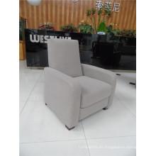 Sofá de salón con sofá moderno de cuero genuino (461)