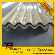 3 series anticorrosión Placa ondulada de aluminio utilizada para el techo del edificio