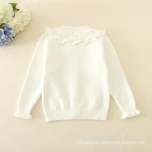 Cardigans cor multicolor tripulação pescoço mangas compridas mais recentes modelos de camisola para meninas com padrão de flores
