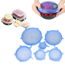 Couvercle alimentaire en silicone extensible durable et réutilisable FDA / LFGB